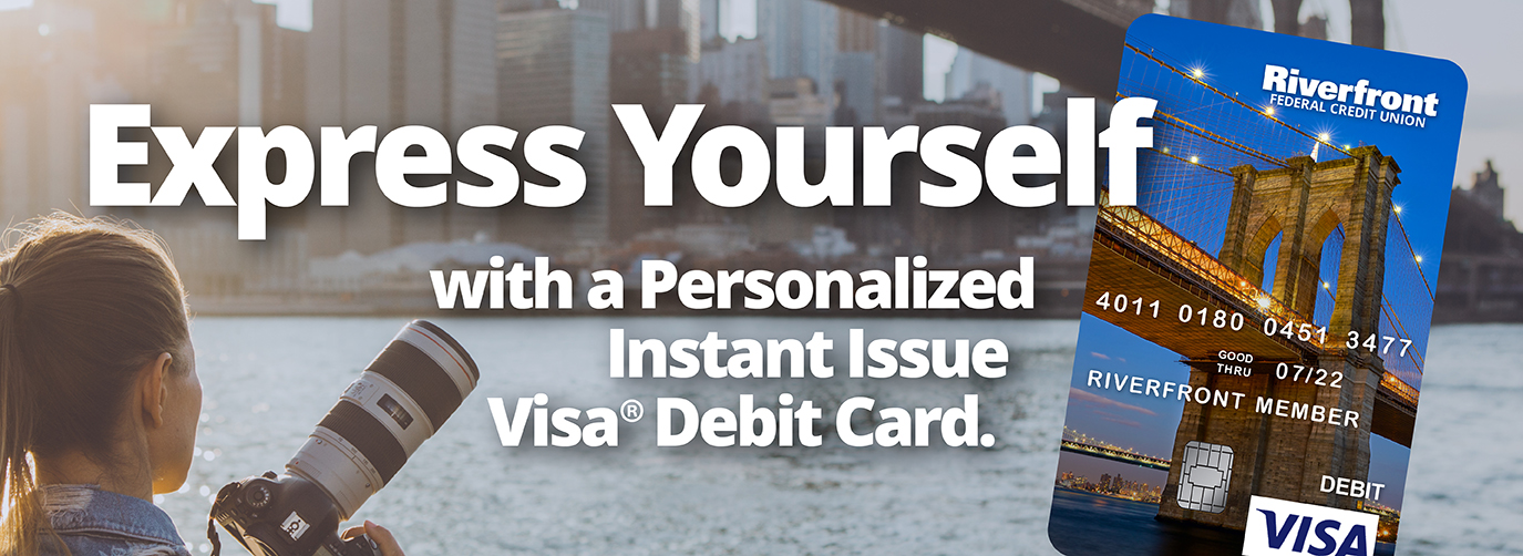 Express yourself with a Personalized Instant Issue Visa Debit Card Click Here For Yours!